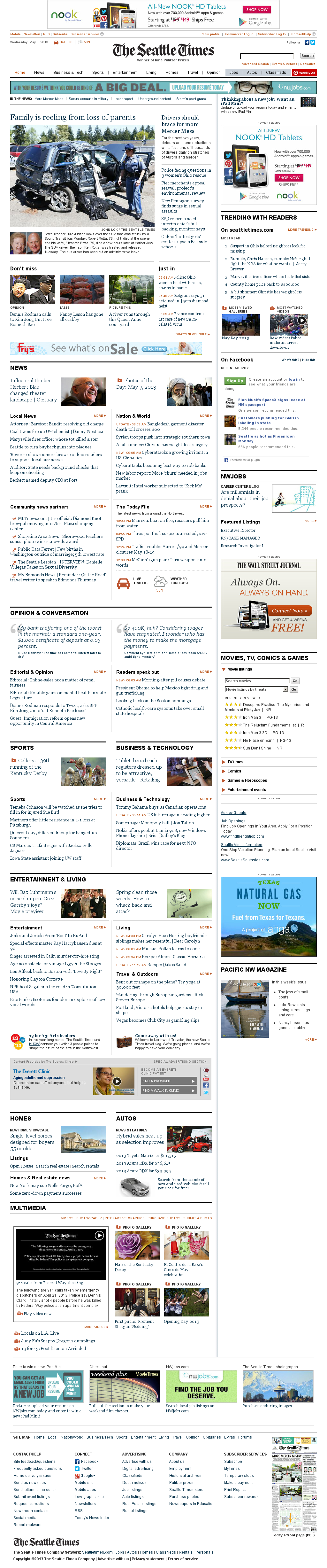 The Seattle Times at Wednesday May 8, 2013, 1:23 p.m. UTC