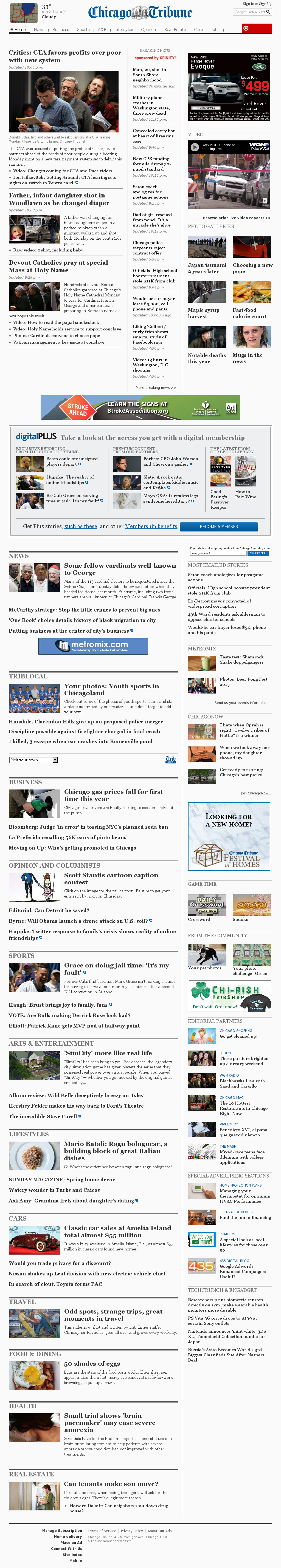 Chicago Tribune at Tuesday March 12, 2013, 6:03 a.m. UTC