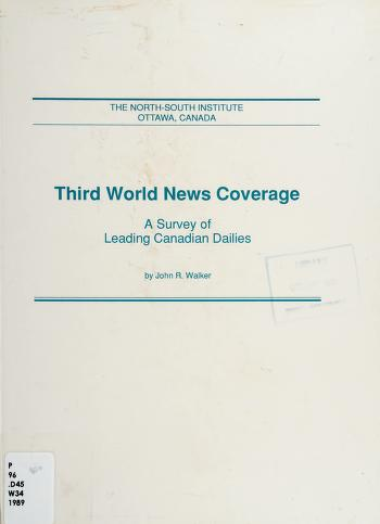 Cover of: Third World news coverage | Walker, John R.